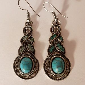 Turquoise Drop Dangle Earrings